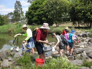Gathering water as an outreach activity